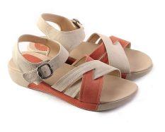 Garsel L342 Sandal Flat Wanita - Synth - Keren (Cream Kom)
