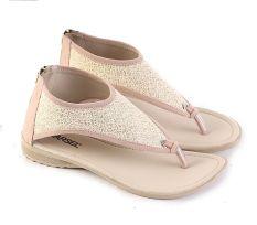 Garsel L361 Sandal Flat Wanita - Synth - Keren (Cream)
