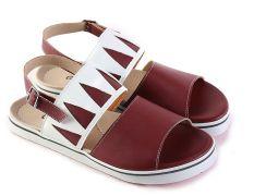 Garsel L385 Sandal Flat Wanita - Synth - Keren (Marun)