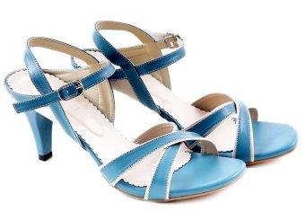 Garucci GKD 4204 Sepatu Fashion High Heels Wanita - Synthetic - Modis & Gaya (Biru Kombinasi)