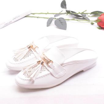 Gaya Inggris musim panas bernapas sepatu lubang sepatu (Putih)