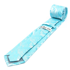 Gemay Classic Casual Flower Pattern Men's Neck Tie Polyester Silk Business Gift TypeD