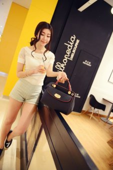 Genevieve 90017 Black - Handbag Fashion Wanita - Tas Import