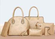 Genevieve Dc1262 Gold - 6in1 Tas Set - Handbag Cantik