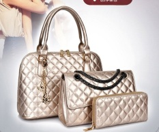 Genevieve Dc1707 Gold - Handbags Buy 1 Get 3 (Handbags, Selempang Dan Dompet)