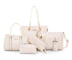 Genevieve Dc8011 Beige - Handbags 5 In 1 (Selempang, 2 Types Of Handbags, Clutch And Wallet)