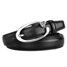 Geniue Leather Belt New Fashion Second Cow Leather Women Leather Skinny Waist Belt Buckle Waistband - Intl