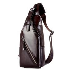 Genuine Leather Men's Messenger Bags Casual Men's Travel Bags Chest Pack Vintage Shoulder Bags Brown (Intl)