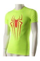 Ghope Superman Spiderman Batman Captain America Men's Fitness Tight-fitting Short-sleeved Men's T-shirt High-elastic Sweat Fast Drying (Export) (Intl)