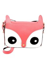 Ghope Women's PU Fox Handbag / Shoulder Bag / Messenger Bag Pink