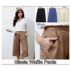 Gisela Waffle Pants Warna Mocca