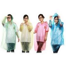 Gokea 3Pcs Jas Hujan Tipis Sekali Pakai - Random Colour