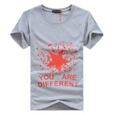 Good Quality Short Sleeve Round Neck Unisex Women Men Fashion Cotton T Shirt (Grey) - Intl