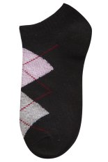 Gracefulvara 1 Pair Fashion Women Girls Casual Sports Ankle High Low Cut Cotton Diamond Socks (Black)