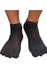 Gracefulvara Men Boys Mesh Socks Cotton Sports Socks Five Seperate Toe Socks (Dark Grey)