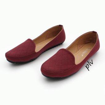 Gratica Sepatu Wanita Loafers UB12 - Maroon