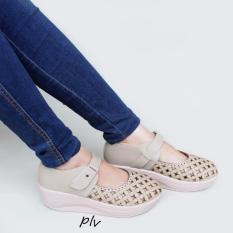 Grivera Sepatu Wanita Wedges Laser SA52 - Cream