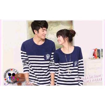 Grosir Baju Pasangan Kapel Kaos Couple Lengan Panjang Cp Sailor Lp Navy .