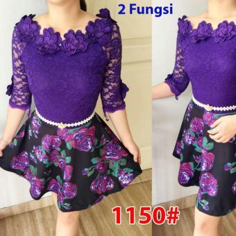 Grosir Dress-1150 Purple