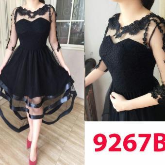 Grosir Dress-9267B Black