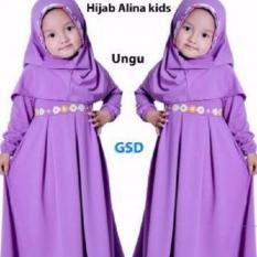 GSD-Maxi Gamis Anak Hijab Alina Kids Ungu