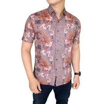 Gudang Fashion - Baju Kemeja Batik Formal Pria - Krem