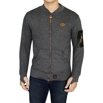 Gudang Fashion - Jaket Sweater Pria Keren - Abu Tua