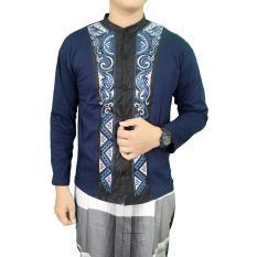 Gudang Fashion - Kemeja Lengan Panjang Koko Muslim - Biru Tua