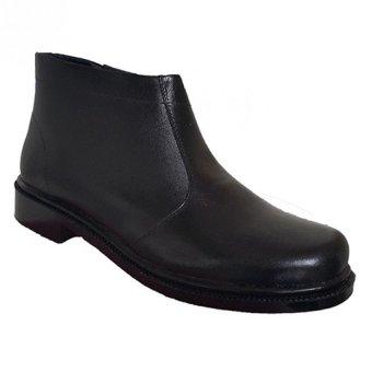 Handymen PDH TNI G 052 Sepatu Boot Kulit Klasik - Black