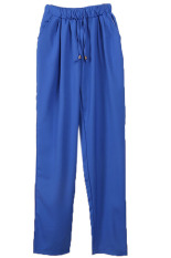HANG-QIAO Casual Harem Pants (Royal Blue)