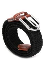Hang-Qiao Men's Elastic Woven Belt (Black)