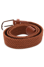 Hanyu Girdle Woven Belt Waistband Fashion (Brown)