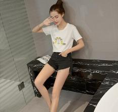 Happy Women 's Stretch Slim Denim Shorts Grey - Intl