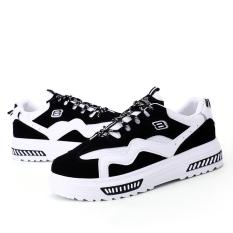 Harajuku shoes thick white shoes lace with casual loose bottom movement Korean version of the white plate shoes - intl
