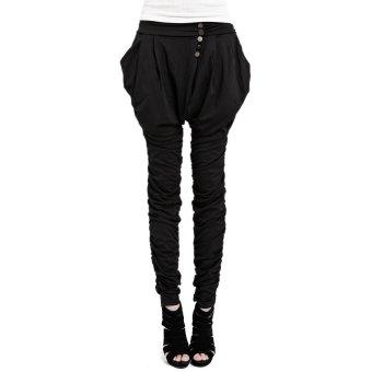 Harem Pants Trousers (Black)