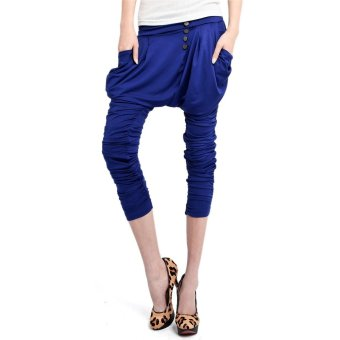 Harem Pants Trousers(Blue)