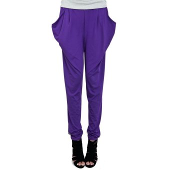Harem Pants Trousers (Purple)