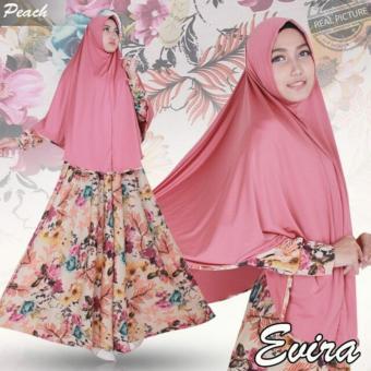 Hasanah Gamis Syari Elvira - Pink - Gamis