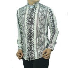 Herman Batik Baju CB218 Kemeja Batik Pria Slimfit Fashion Jeans