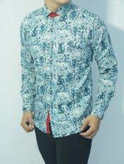 Herman Batik CB253 Baju Kemeja Batik Slimfit Fashion Pria Jeans Muslim Koko