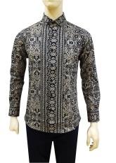 Herman Batik Kemeja Batik Slimfit A8160 Pria Kombinasi Muslim Koko Jeans