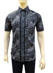 Herman Batik Kemeja Batik Slimfit B7878 Pria Kombinasi Muslim Koko Jeans