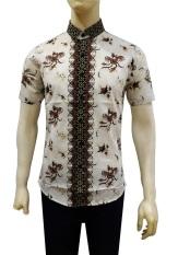 Herman Batik Kemeja Batik Slimfit B7881a Pria Kombinasi Muslim Koko Jeans