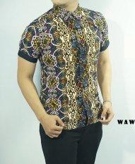 Herman Batik Kemeja Batik Slimfit S825C Baju Fashion Pria Muslim Koko Jeans