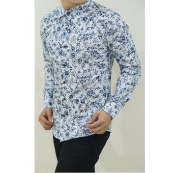 Herman Batik Kemeja Slimfit Pria LSH1038B Kombinasi Muslim Koko Jeans
