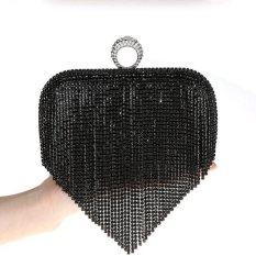 High-Grade Luxurious Women Clutch Box Evening Party Hand Bags Wallet Card Holder Wallet Purse (Black) - Intl