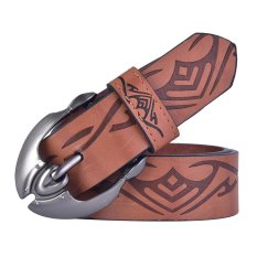 High Quality Pin Buckle PU Leather Belt For Men (Brown) - INTL