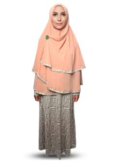 Harga Hijab Baju Gamis Syar I Polos Warna Hijau Pupus Pricenia Com