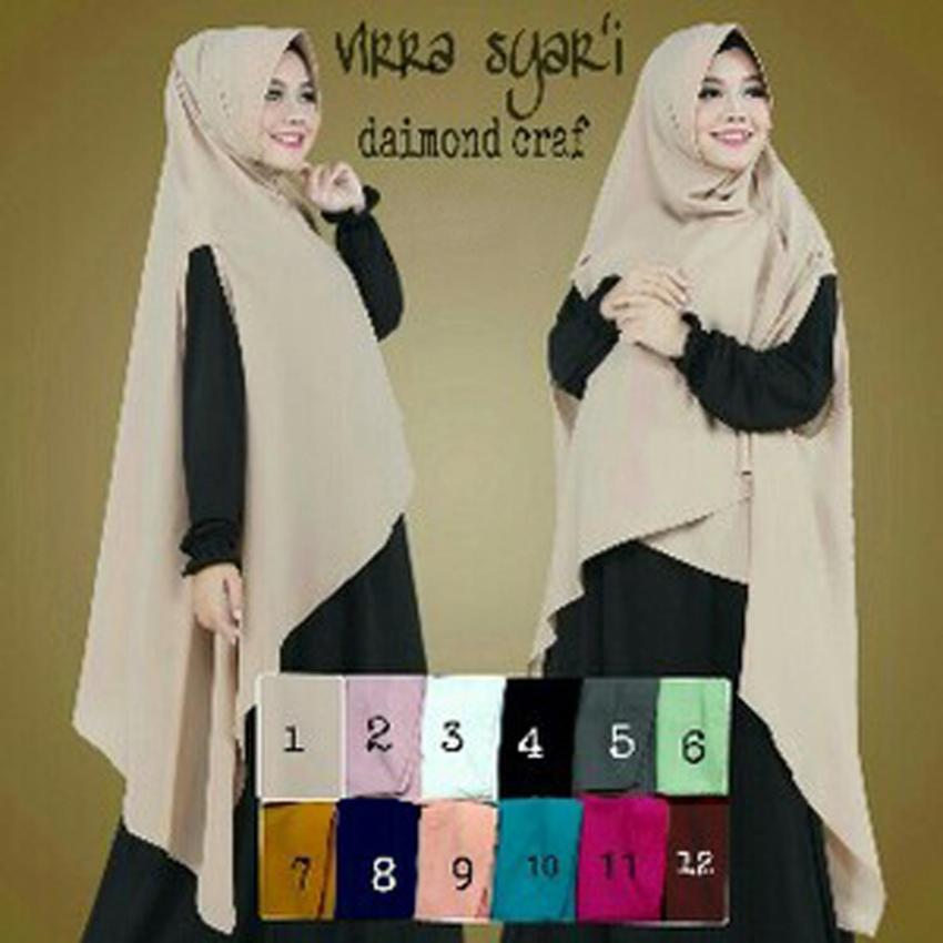 Vrichel Collection - Syari 2in1 Bella (Hitam - Mocca) . Source · Hijab Cantik