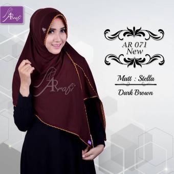 Hijab Instan Arrafi Veena [warna Dark Brown] AR71N kerudung jilbab bergo